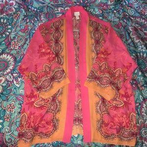 Chico's Pink & Orange Kimono